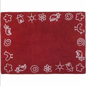 "Lorena Canals Farm Rug - Red (4' x 5' 3"")"